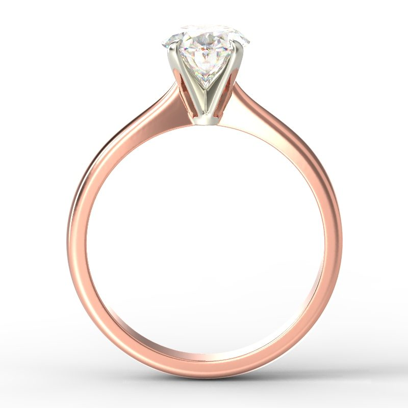 SAVANNAH OVAL ROSE GOLD TOP