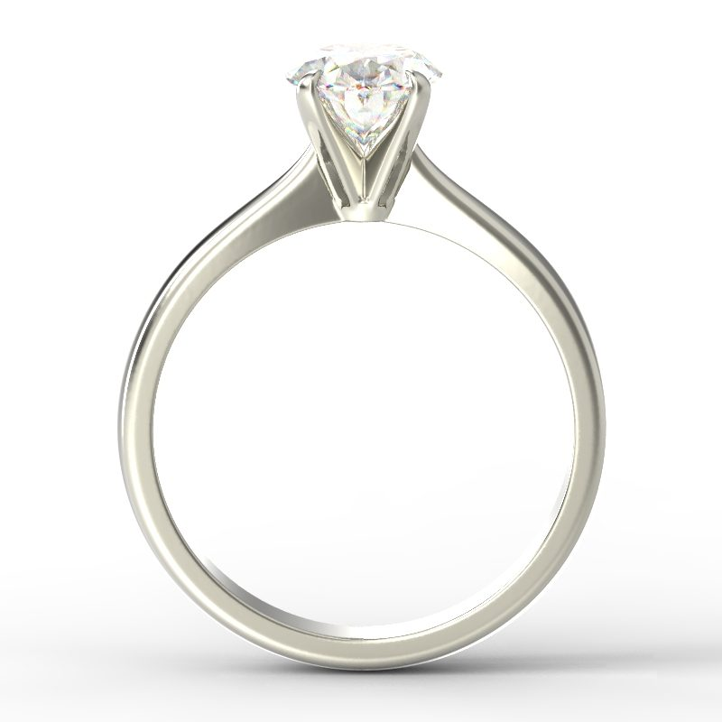 SAVANNAH OVAL WHITE GOLD TOP
