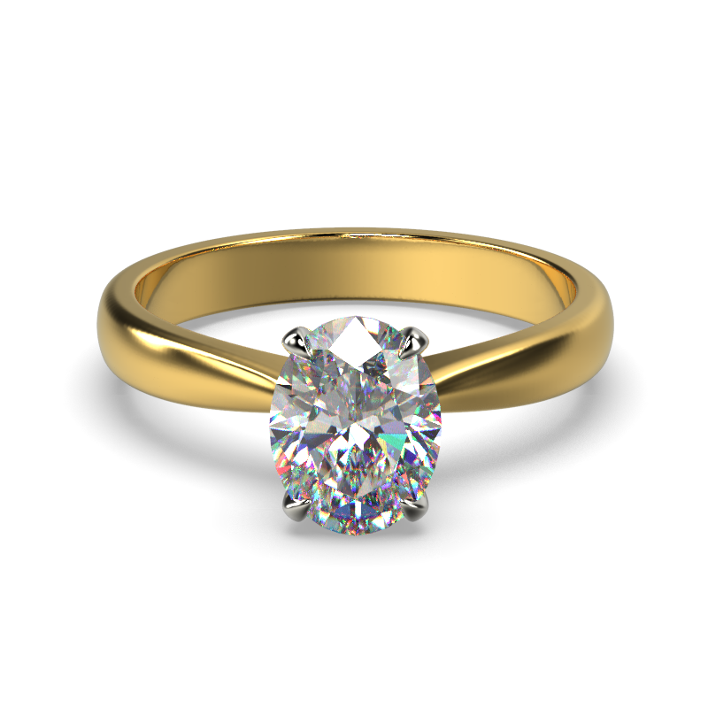 SAVANNAH OVAL YELLOW GOLD FRONT 1