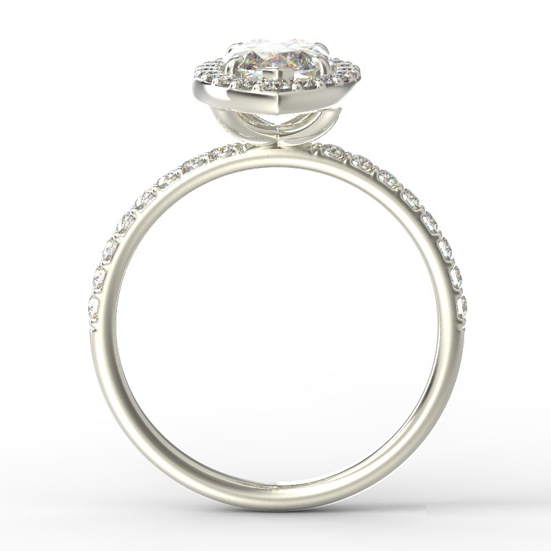 ALLURE MARQUISE WHITE GOLD TOP
