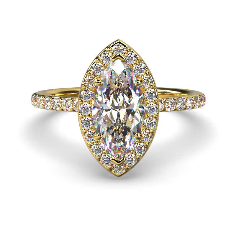 ALLURE MARQUISE YELLOW GOLD FRONT 1