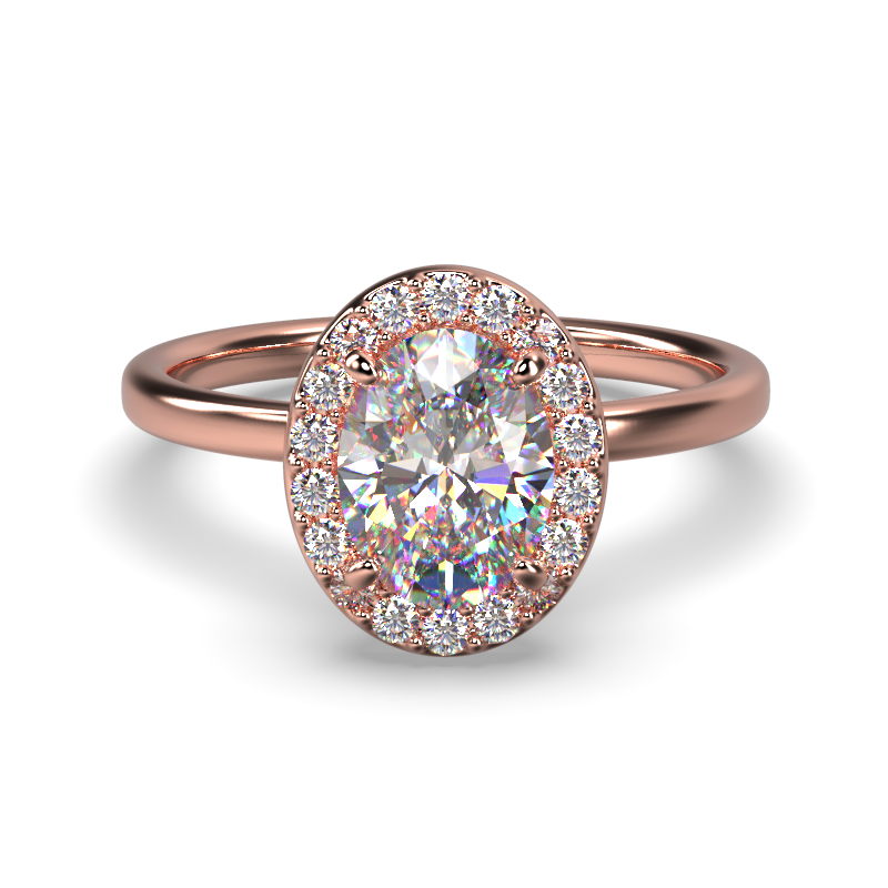 ALLURE OVAL ROSE GOLD FRONT 1