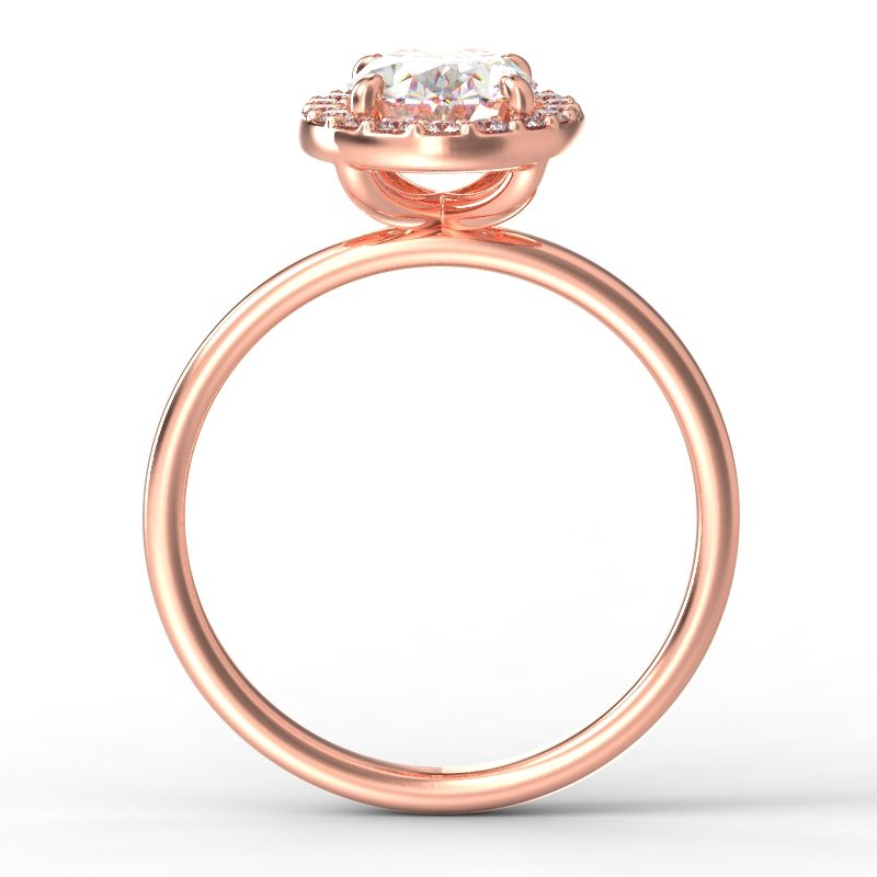 ALLURE OVAL ROSE GOLD TOP