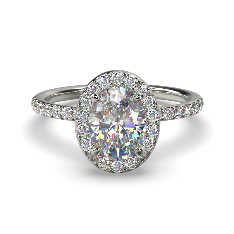 ALLURE OVAL WHITE GOLD FRONT 2