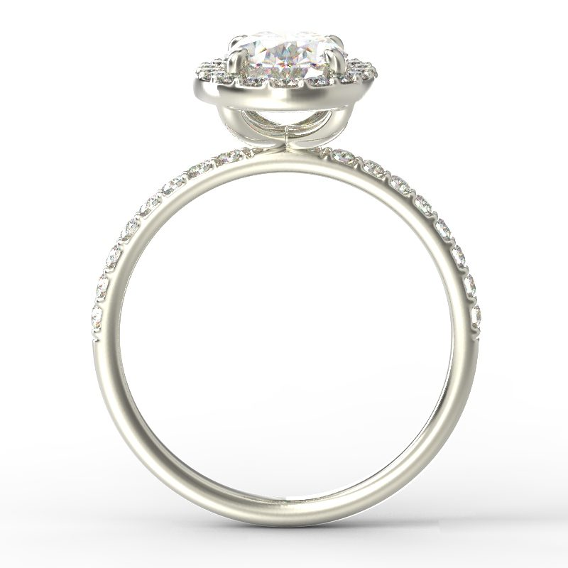 ALLURE OVAL WHITE GOLD TOP 1