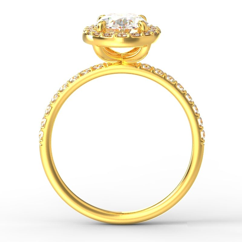 ALLURE OVAL YELLOW GOLD TOP 1