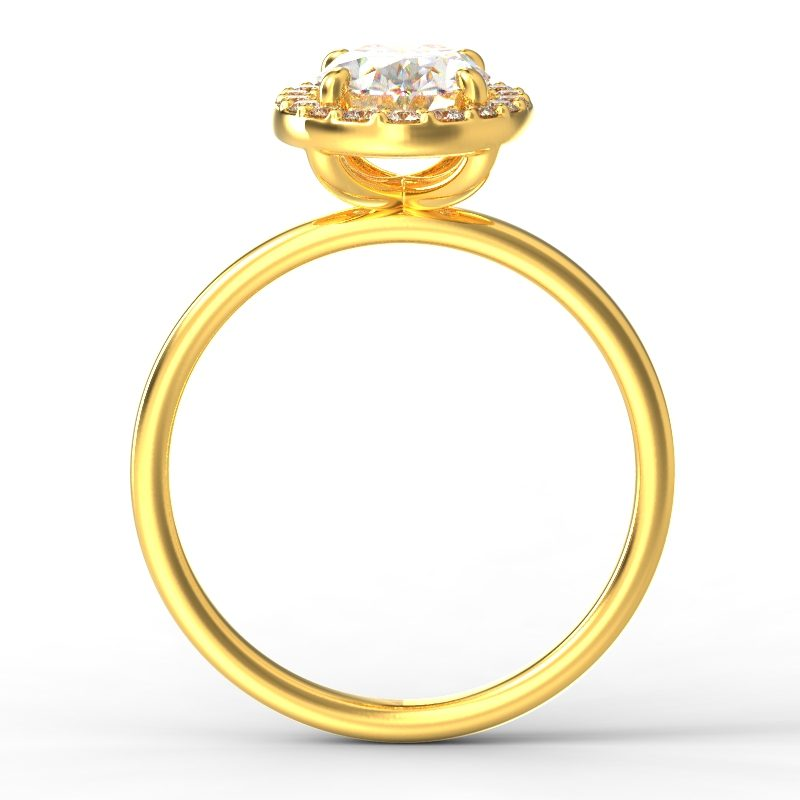 ALLURE OVAL YELLOW GOLD TOP