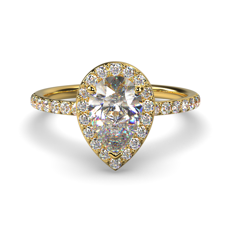 ALLURE PEAR YELLOW GOLD FRONT 1