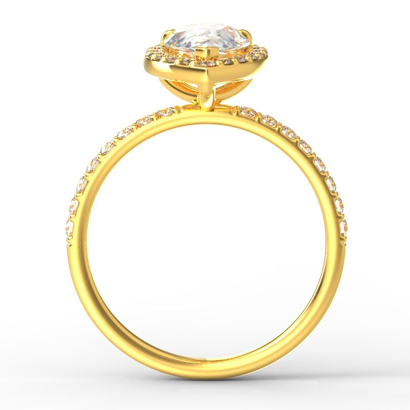 ALLURE PEAR YELLOW GOLD TOP