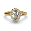 ALLURE PEARSHAPE YELLOW GOLD FRONT
