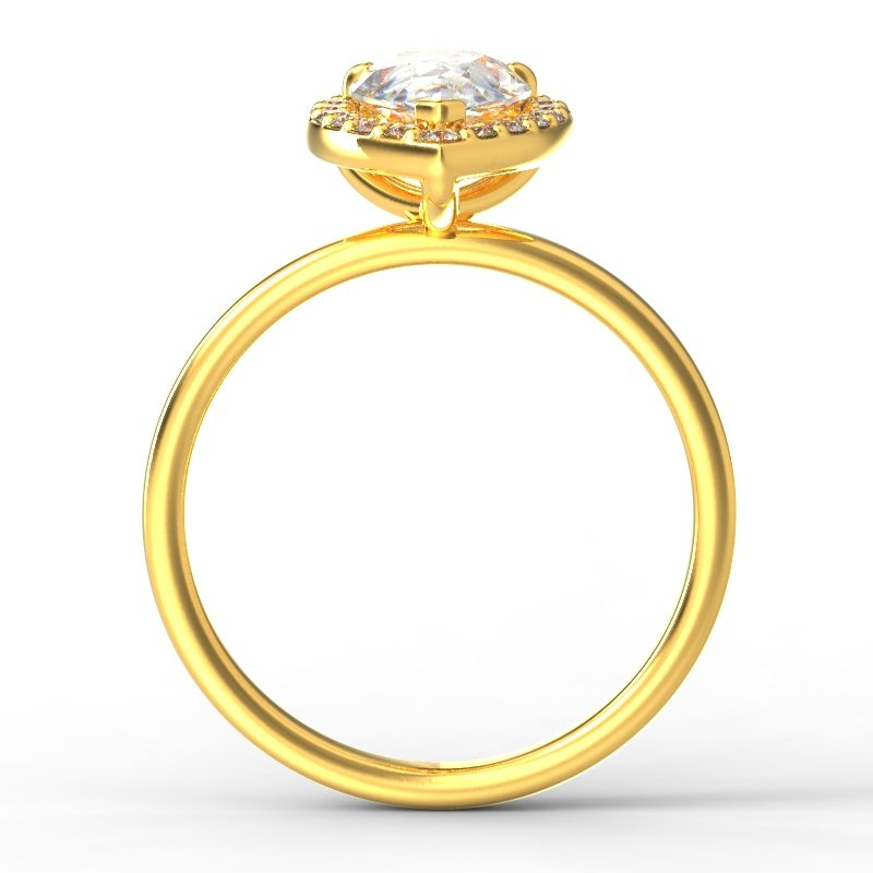 ALLURE PEARSHAPE YELLOW GOLD TOP