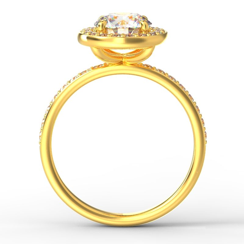 ALLURE ROUND GRAIN YELLOW GOLD TOP