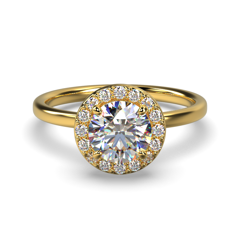 ALLURE ROUND PLAIN YELLOW GOLD FRONT