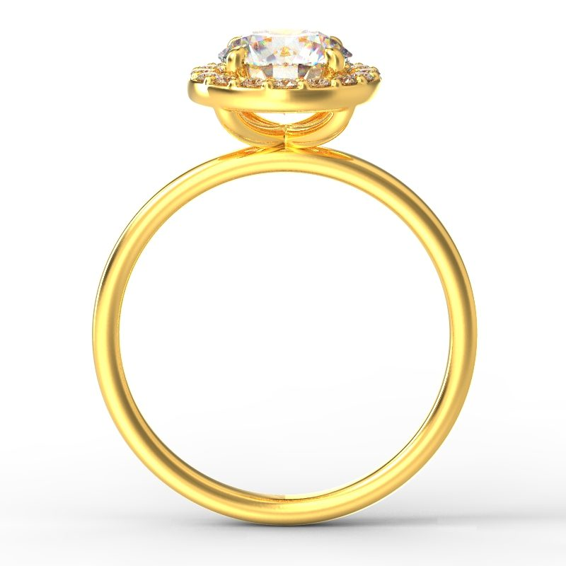 ALLURE ROUND PLAIN YELLOW GOLD TOP