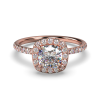 ALLURE SQUARECUSHIONCUT ROSE GOLD FRONT 1