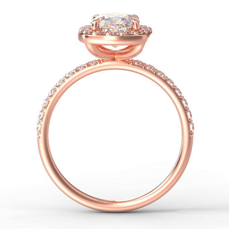 ALLURE SQUARECUSHIONCUT ROSE GOLD TOP