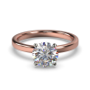 LEONA ROUNDBRILLIANT SOLITAIRE ROSE GOLD FRONT