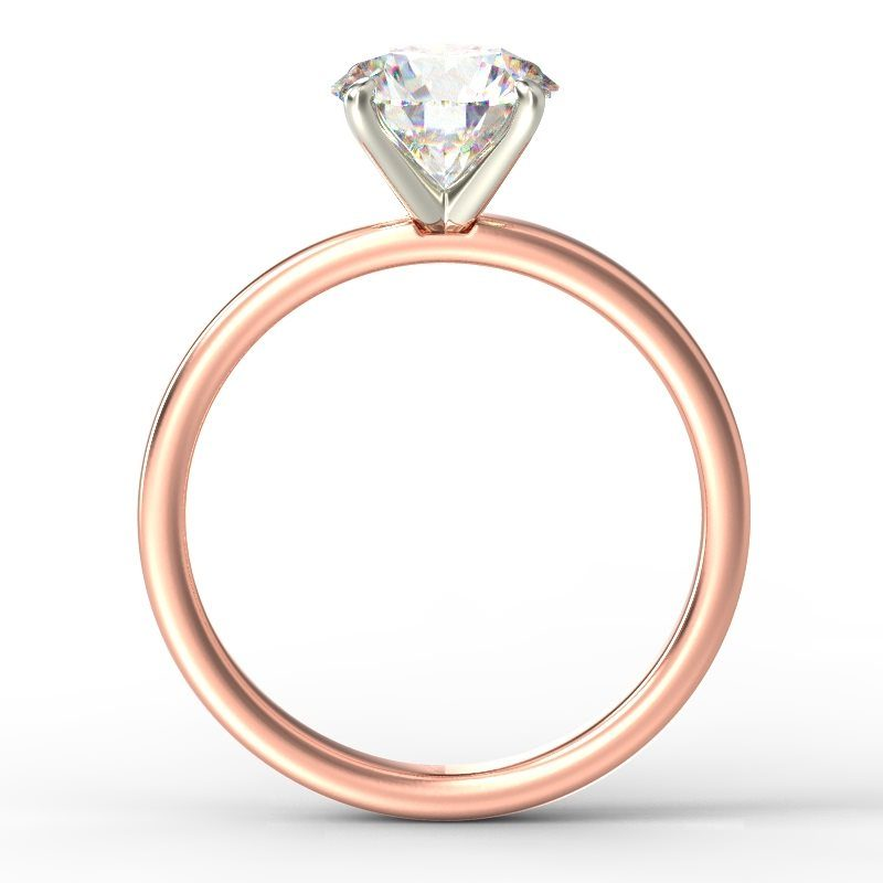 LEONA ROUNDBRILLIANT SOLITAIRE ROSE GOLD TOP