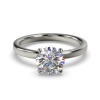 LEONA ROUNDBRILLIANT SOLITAIRE WHITE GOLD FRONT