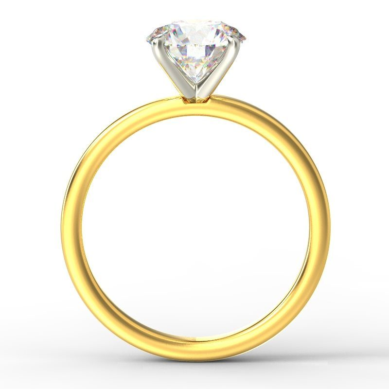 LEONA ROUNDBRILLIANT SOLITAIRE YELLOW GOLD TOP