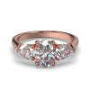 MIA OVAL PEAR SIDES ROSE GOLD FRONT