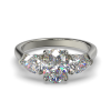MIA OVAL PEAR SIDES WHITE GOLD FRONT