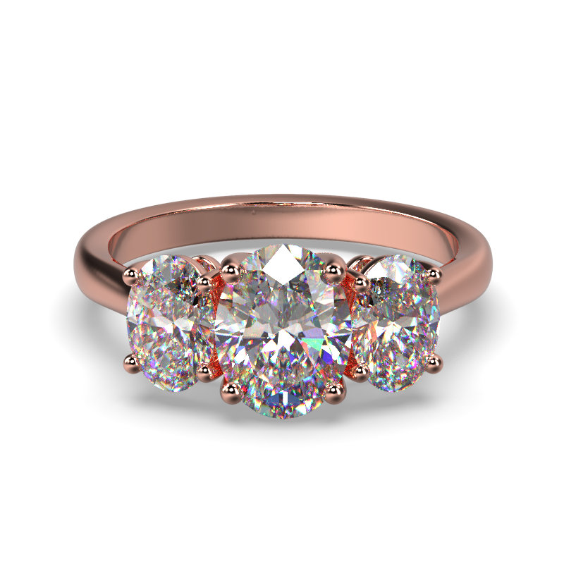 MIA OVAL ROSE GOLD FRONT