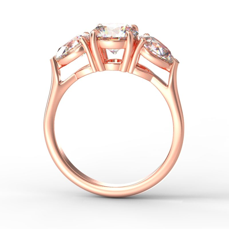 MIA ROUND PEARSIDES ROSE GOLD TOP