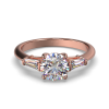 MIA ROUND TAPERED ROSE GOLD FRONT