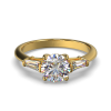 MIA ROUND TAPERED YELLOW GOLD FRONT