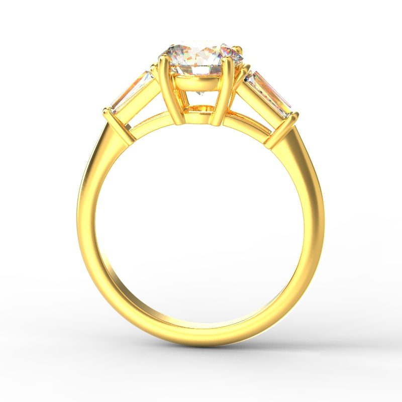 MIA ROUND TAPERED YELLOW GOLD TOP