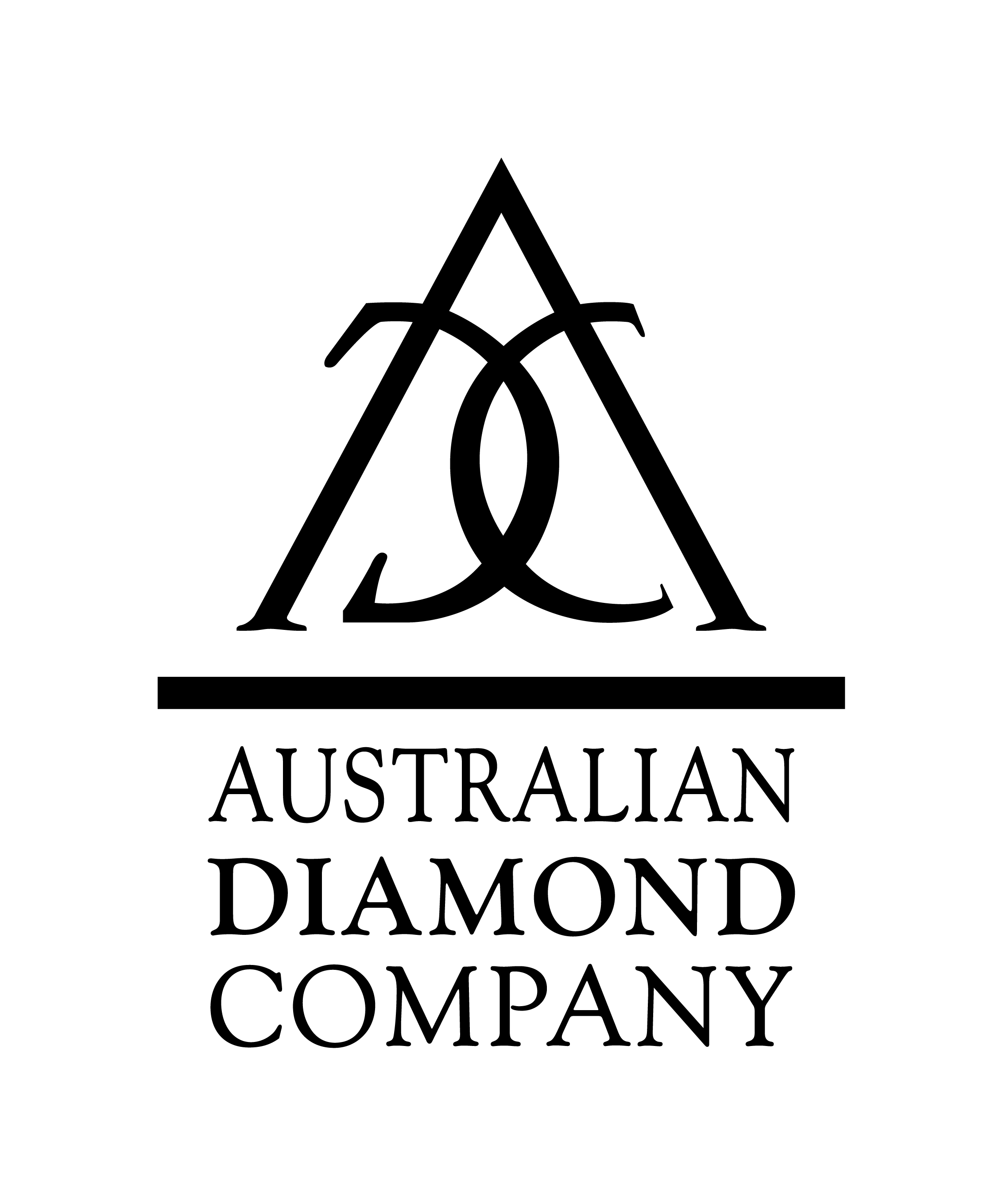 Australian Diamond Company Logo Final Artwork FA Black